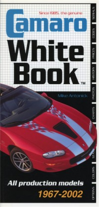 Camaro White Book 1967-2002